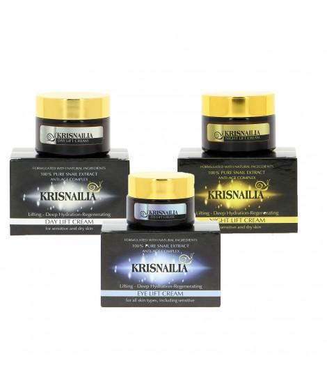 Лифтинг серия с екстракт от охлюви Krisnailia на ТОП цена до 30 юни | Golden Snail | Красота и здраве