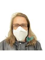 Бяла памучна предпазна маска за лице с филтър с активен въглен от кайсиеви костилки разработка на БАН | beautyhealth.bg