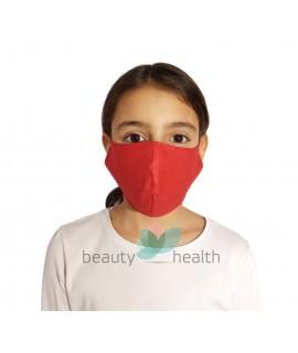 Детска предпазна маска за лице с филтър с активен въглен от кайсиеви костилки разработка на БАН - червен цвят| beautyhealth.bg