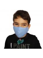 Детска синя маска за лице с 2бр филтър с активен въглен от кайсиеви костилки на БАН| beautyhealth.bg | Красота и здраве