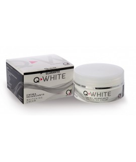 Q-WHITE осигурява антиоксидантно действие и стимулира продукцията на колаген, прибавяйки избелващ ефект