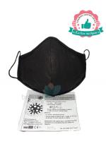 Черна памучна предпазна маска XL размер за лице с филтър с активен въглен от кайсиеви костилки разработка на БАН Цена 8,70 лв