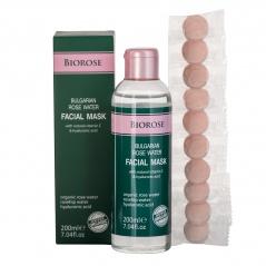 Маска за лице с розова вода и хиалуронова киселина - Bulgarian Rose Water Facial Mask 200 мл | BioRose | Красота и здраве