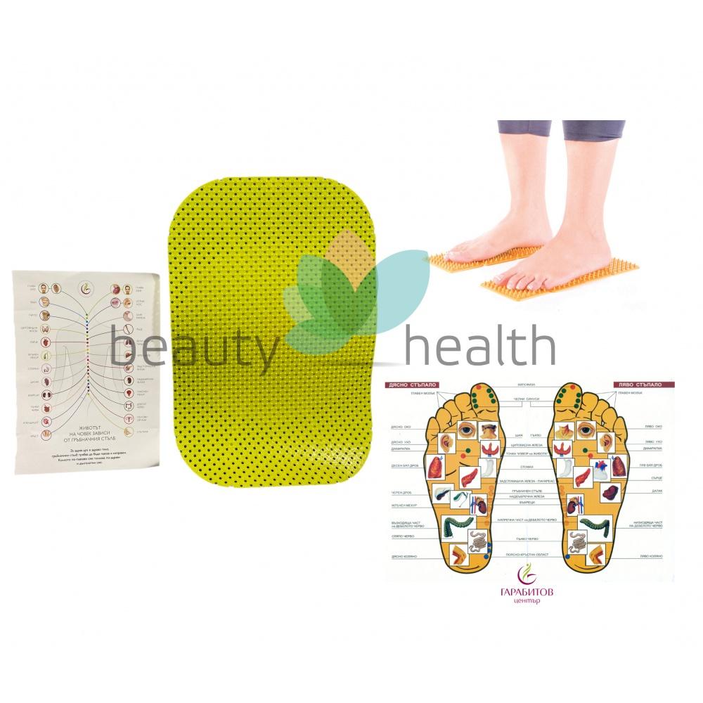Комплект апликатори за лечебна терапия на гръбначен стълб и стъпала FIGURA  Гарабитов център  Красота и здраве