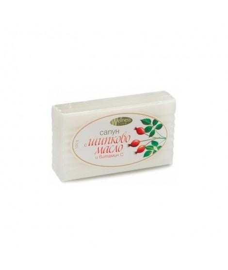 Натурален сапун с шипково масло и витамин C 100 гр.   Тобекс   beautyhealth.bg