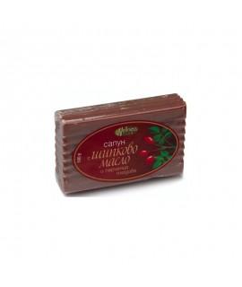 Натурален сапун с шипково масло и парченца плодове, 100 гр. | Красота и здраве